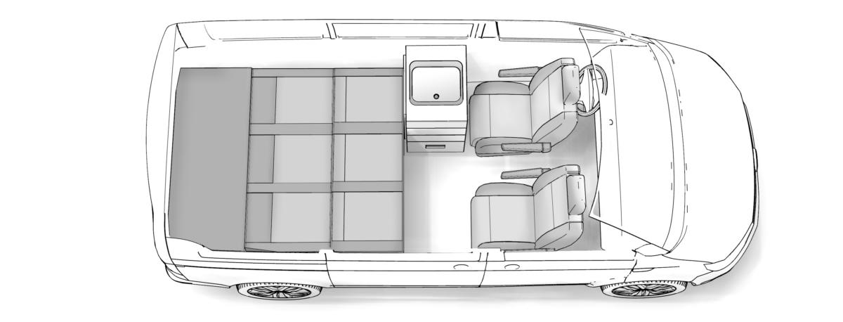 Grundriss Multi breites Bett