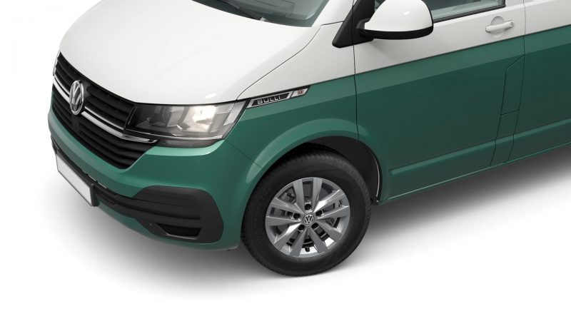 VW T6.1 Custom-Bus Candy-Weiß/Bay Leaf Green